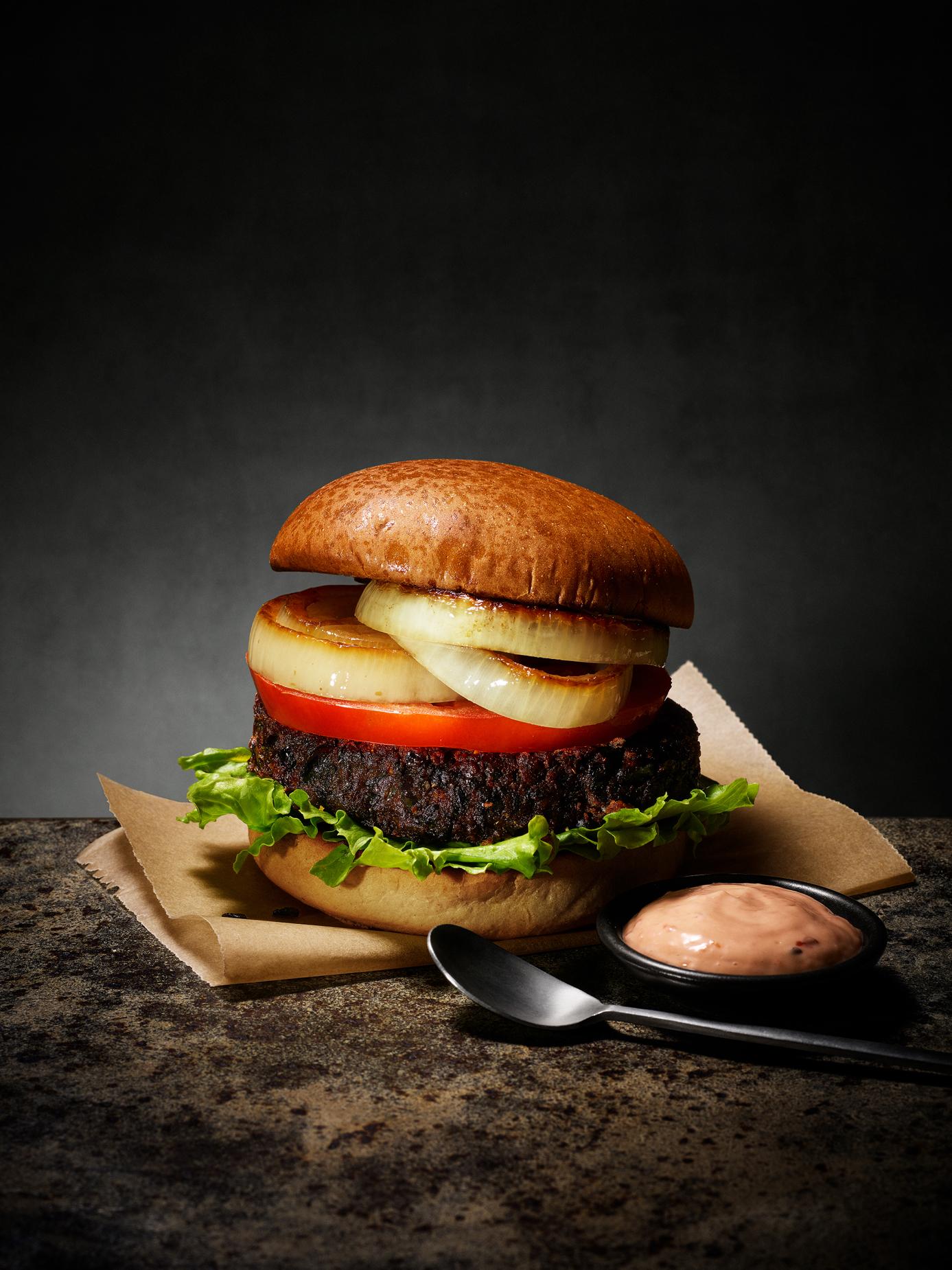 Black Bean Chili Burger
